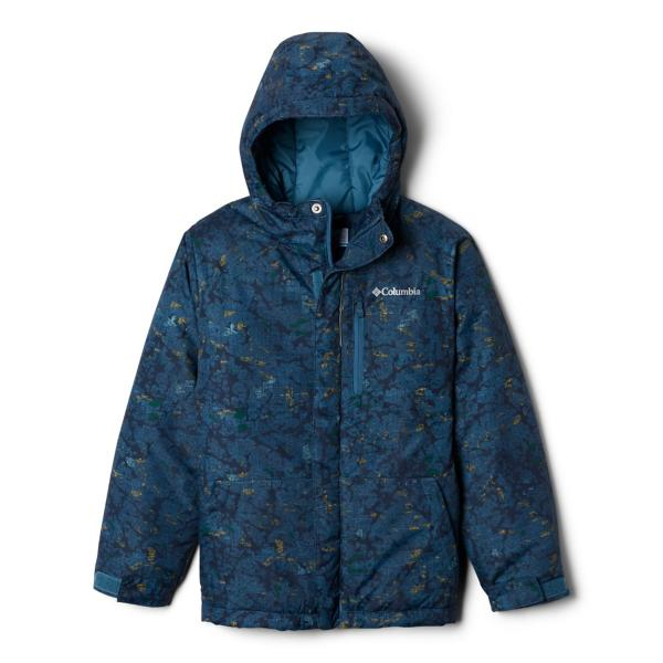 Blue Heron Crackle Splatter