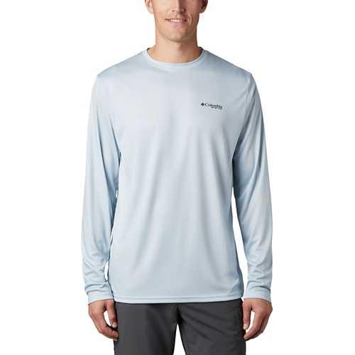 Men's Columbia PFG Terminal Tackel Fish Flag Long Sleeve Shirt