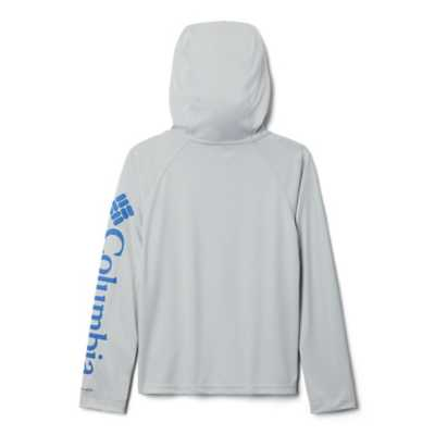 Boys' Columbia PFG Terminal Tackle Hooded Long Sleeve Shirt