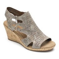 Women's Cobb Hill Janna Floral Nubuck Wedge Sandals