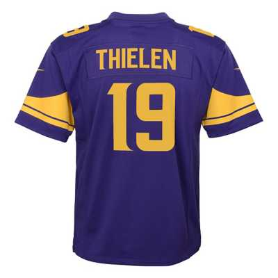 Kids' Nike Minnesota Vikings Adam Thielen Color Rush Game Jersey