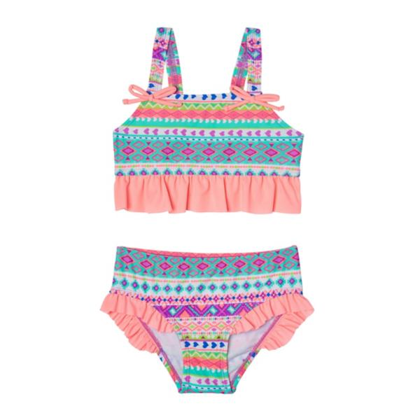 ff450ac26fd Multi Colored Tap to Zoom; Preschool Girls' Hula Star Hippie Hearts Two  Piece ...