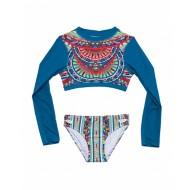 Grade School Girls' Gossip Girl Digital Nation Two Piece Swimsuit