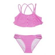 Grade School Girls' Gossip Girl Electric Stripe Bikini