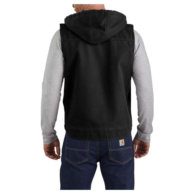 Men's Carhartt Relaxed Fit Washed Duck Fleece-Lined Hooded Vest