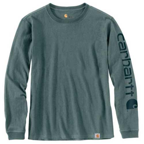 Women's Carhartt WK231 Workwear Sleeve Logo Long Sleeve T-Shirt