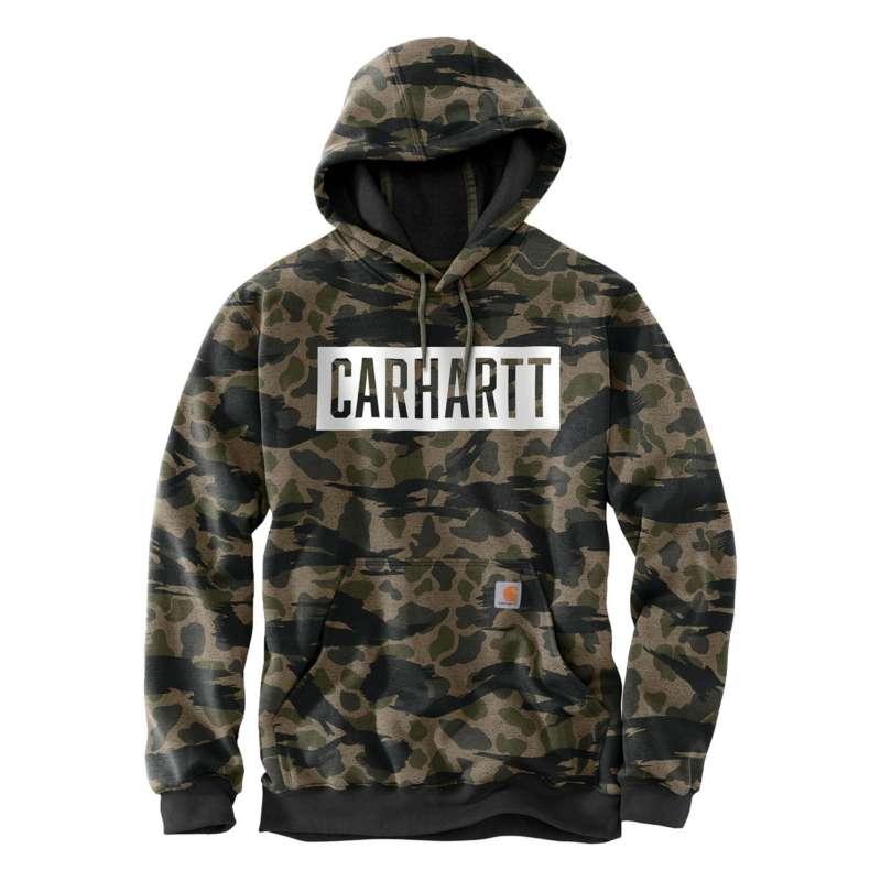 Men's Carhartt Loose Fit Midweight Hooded Camo Graphic Sweatshirt