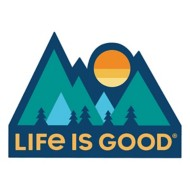 Life is Good Mountains Die Cut Sticker