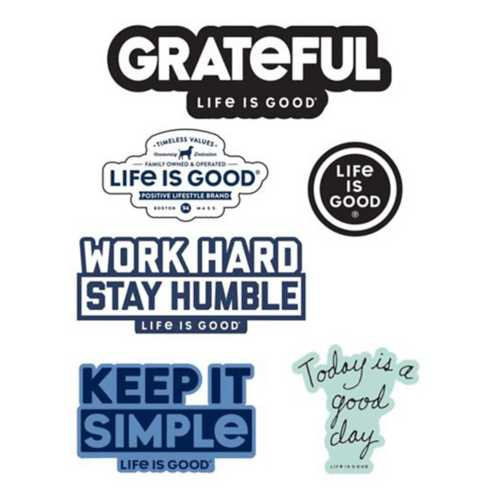 Life is Good Positive Six-Pack Sticker Pack