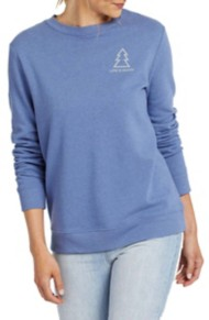 Women's Life is Good Tree Heart Simply True Crewneck Sweatshirt