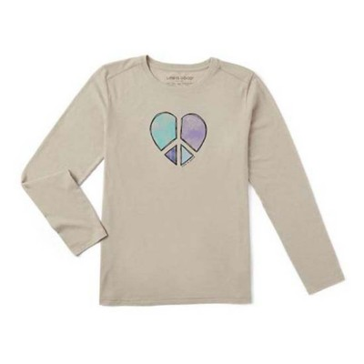 Women's Life is Good Peace Love Heart Cool T-Shirt