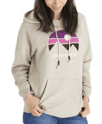 Women's Life is Good Mountain Vibes Simply True Hoodie