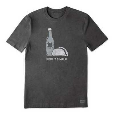 Men's Life is Good Simple Taco Crusher T-Shirt