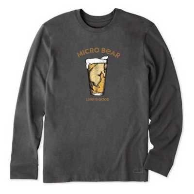 Men's Life is Good Cold Micro Bear Crusher Long Sleeve Shirt