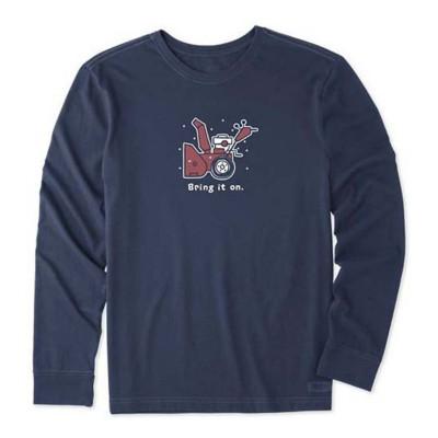 Men's Life is Good Bring It On Snowblower Crusher Long Sleeve Shirt