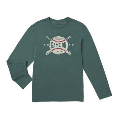 Men's Life is Good Game On Cool Long Sleeve Shirt