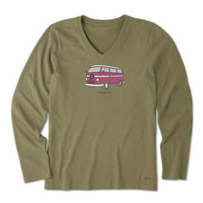 Women's Life is Good Ramble On Crusher Vee Long Sleeve Shirt