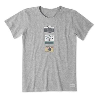 Women's Life is Good Hobby Camera Crusher T-Shirt