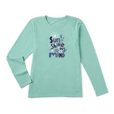 Women's Life is Good Sunshine On My Mind Crusher Long Sleeve Shirt