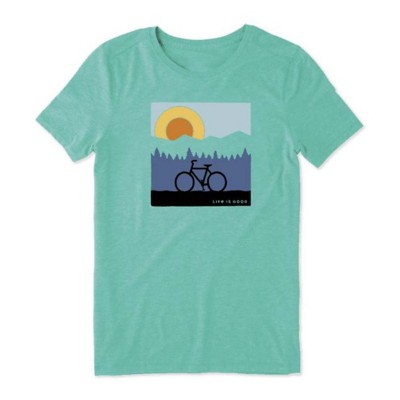 Women's Life is Good Sunrise Bike Cool T-Shirt