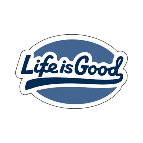 Life Is Good Ballyard Script Decal Sticker