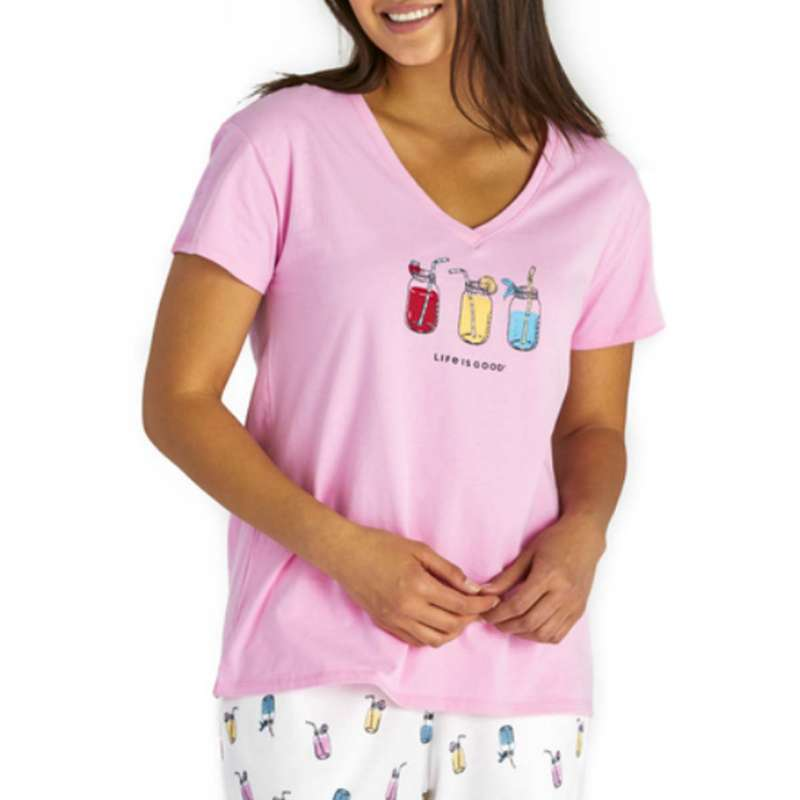 Women's Life is Good Refreshing Jars Snuggle Up Relaxed Sleep T-Shirt