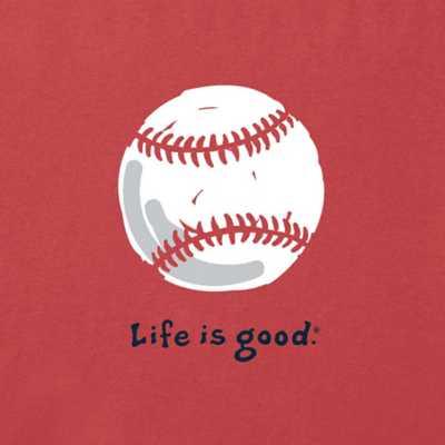 Men's Life Is Good Baseball Vintage Crusher T-Shirt