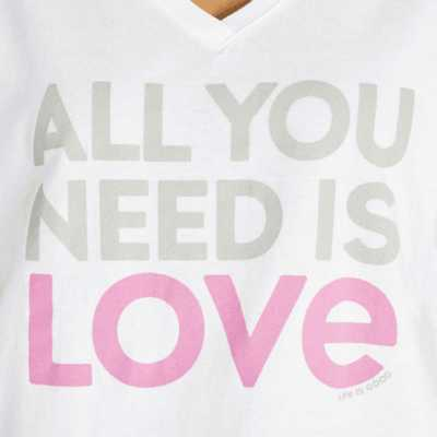 Women's Life is Good All You Need Snuggle Up Relaxed Sleep T-Shirt