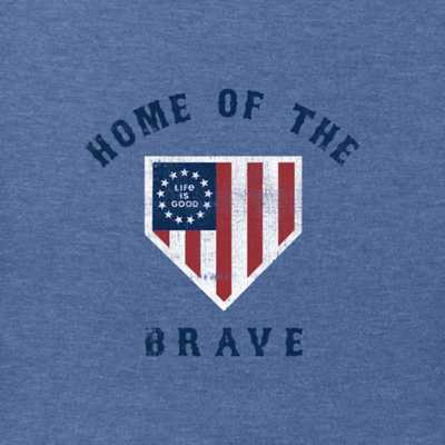 Men's Life is Good Brave Home Plate T-Shirt