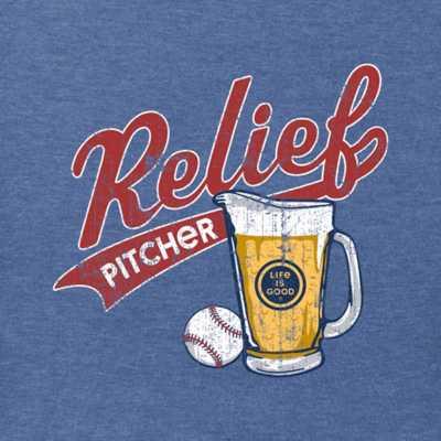Men's Life is Good Relief Pitcher T-Shirt