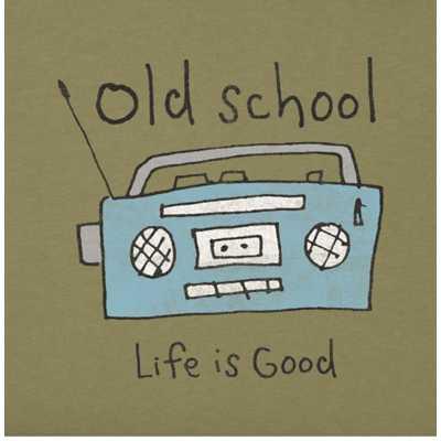 Men's Life Is Good Old School Radio Crusher T-Shirt