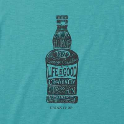 Men's Life is Good Drink It Up T-Shirt