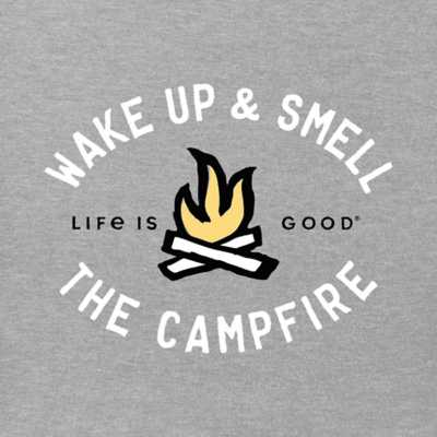 Men's Life is Good Smell The Campfire T-Shirt