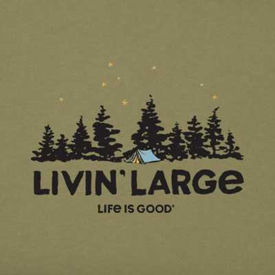 Men's Life is Good Livin' Large Camp T-Shirt