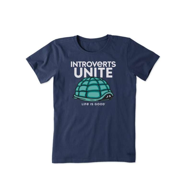 Women's Life Is Good Introverts Unite T-Shirt