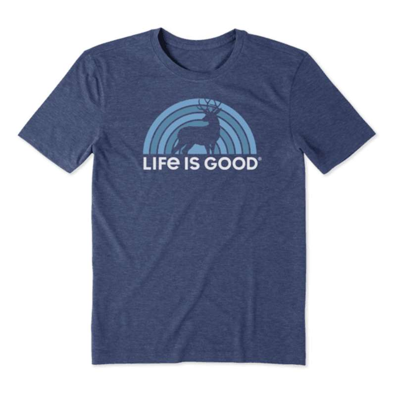 Men's Life Is Good Retro Buck Cool Short Sleeve T-Shirt