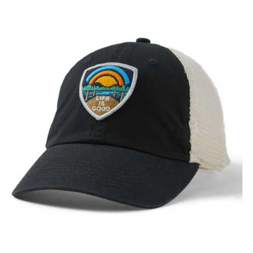 Life Is Good Lake Shield Soft Mesh Back Cap