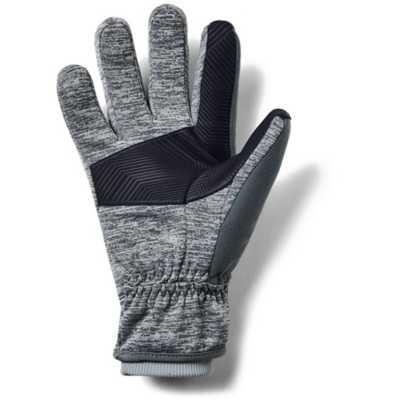 Under Armour Fleece Mens Gloves Large L Infrared Ski Run Hiking Black ColdGear
