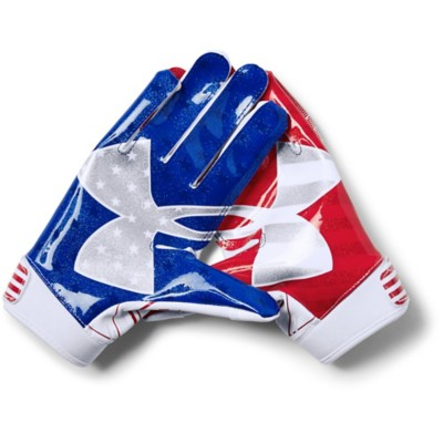 sports shoes 5587e 0fdb2 Youth Under Armour F6 USA Flag Novelty Football Receiver Gloves