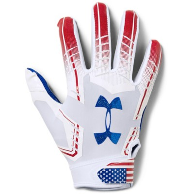 Youth Under Armour F6 USA Flag Novelty Football Receiver Gloves
