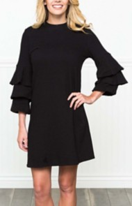 Women's Downeast Tiered Ruffle Sleeve Dress