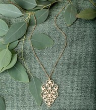 Women's Downeast Filigree Medallion Necklace