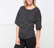 Women's Downeast Right To Dot 3/4 Sleeve Shirt