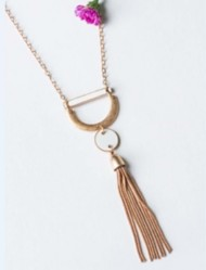 Women's Downeast Enamel Tassel Necklace