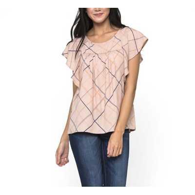 Women's Downeast Perfect Plaid Short Sleeve Blouse