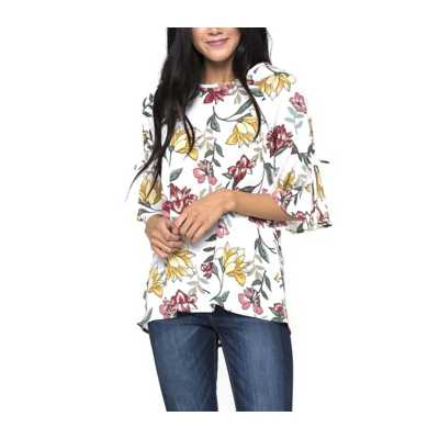 Women's Downeast Falling for Floral Blouse
