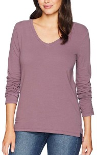 Women's dylan Effortless V Neck Long Sleeve Shirt