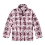 Women's dylan Sherpa Taos Shadow Plaid 1/4 Zip Pullover Sweatshirt