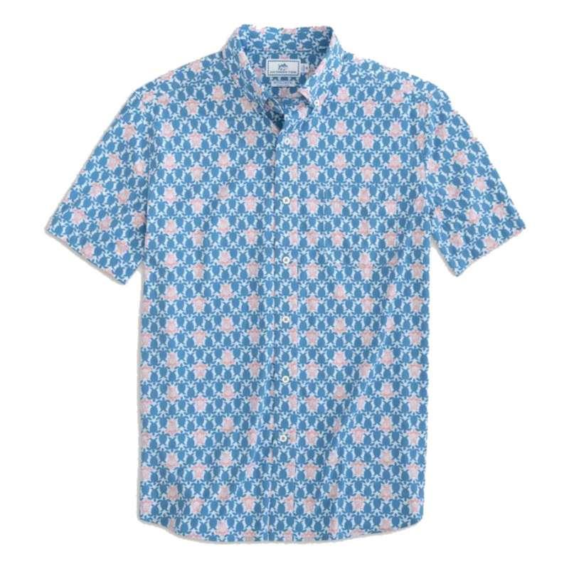 Men's Southern Tide Turtle Intercoastal Short Sleeve Sport Shirt