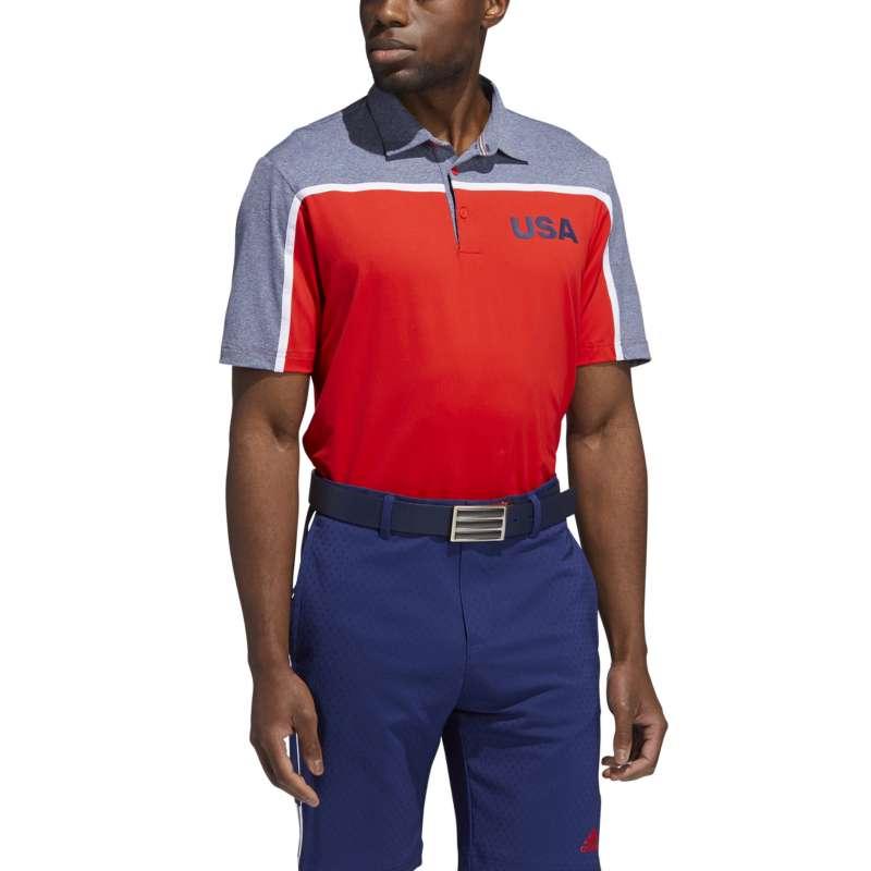 Men's adidas USA 3 Golf Polo